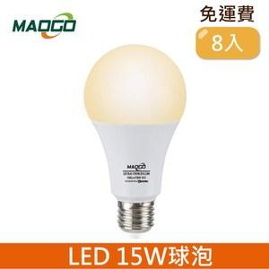 HONEY COMB Maogo LED15W廣角度球泡8入 TB815Y-08 / 黃光