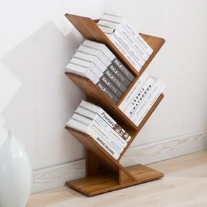 竹製創意樹狀書架-三層