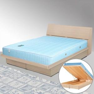 Homelike 諾雅5尺掀床組-雙人(白橡木紋)