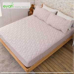 【eyah】台灣製純色加厚舖棉保潔墊床包式雙人-紳士灰