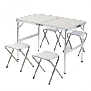 手提箱可折合一桌四椅組