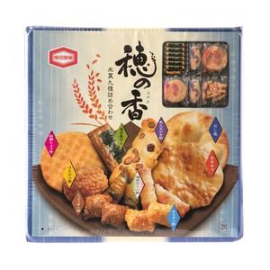 日本龜田九種類米果藍禮盒