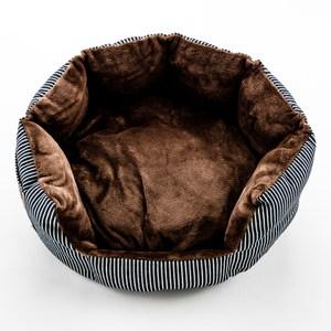 條紋牛仔法蘭絨可愛動物墊 圓