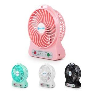 【aibo】充電便攜式 三段變速USB風扇(FAN-33)粉紅
