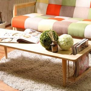 實木簡約自然木紋客廳創意個性置物茶几