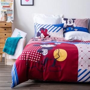 HOLA 迪士尼系列 復古米奇純棉西寢床被組 雙人 MICKEY Disney