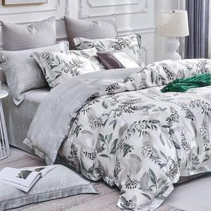 【Indian】100%純天絲雙人特大七件式床罩組-韻葉6*7