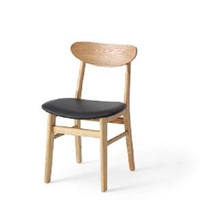 林氏木業北歐實木腳餐椅2入组LS073S3-A-原木色
