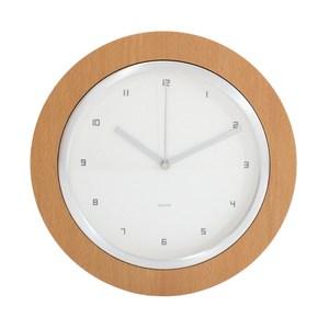 Lovel 26cm無印風格木框壁掛時鐘(W260-NT)