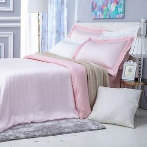 (組)雅緻天絲素色加大床被組輕粉