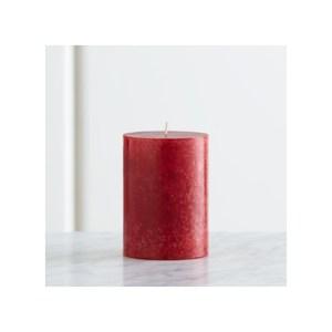 Crate&Barrel Pillar 蠟燭 7x10cm 莓紅