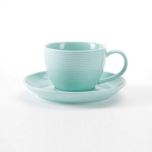 HOLA 璞真純色杯碟組 250ml 淺綠