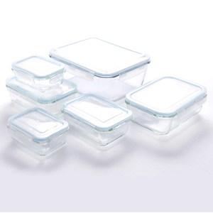多用途耐熱玻璃保鮮盒 6件組
