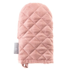 HOLA 素色織紋隔熱手套13x21cm 梅粉色