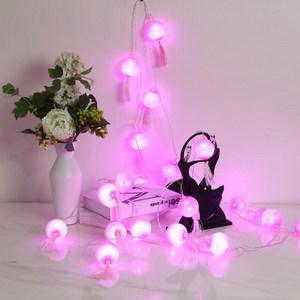 USB星星燈串-粉色線球