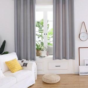 【三房兩廳】抗UV純素色系遮光窗簾(寬200x高160cm) 絲絨麻灰色
