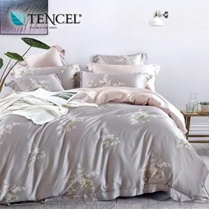 【貝兒居家寢飾生活館】100%萊賽爾天絲兩用被床包組(雙人/夢語)