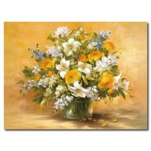 24mama掛畫-單聯式 花卉大型無框畫 80x60cm