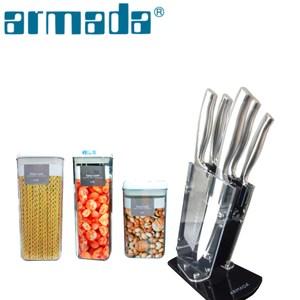 【armada 】阿曼達伊莉莎白五件式刀具附透明刀架座(送儲物罐組)