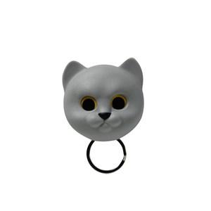 QUALY|喵喵鑰匙圈(灰)